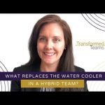What replaces the water cooler in a hybrid team?